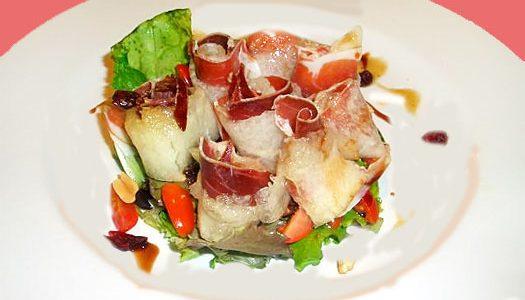 Ingredientes  200 grs.de jamón serrano (o ibérico) cortado muy fino1Kg.de melón 1 bolsa de 200 gr.de ensalada variada (brotes tiernos de lechugas verdes, rojas, hoja de robla y […]