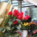 Puesto de rosas en Barcelona