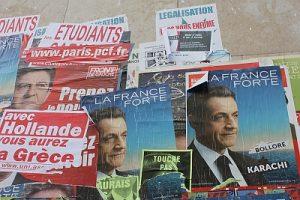Carteles electorales en París