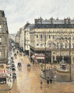 Rue Saint-Honoré, efecto lluvia; 1897