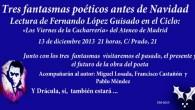 El viernes 13 de diciembre a las 21.15 horas Fernando López Guisado participará en el prestigioso ciclo «Los Viernes de la Cacharrería», en el Ateneo de Madrid (Calle […]