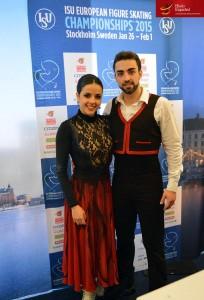 Sara Hurtado y Adrián Díaz. Foto: Hielo Español
