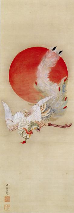 Fénix y sol_Ito Jakuchu