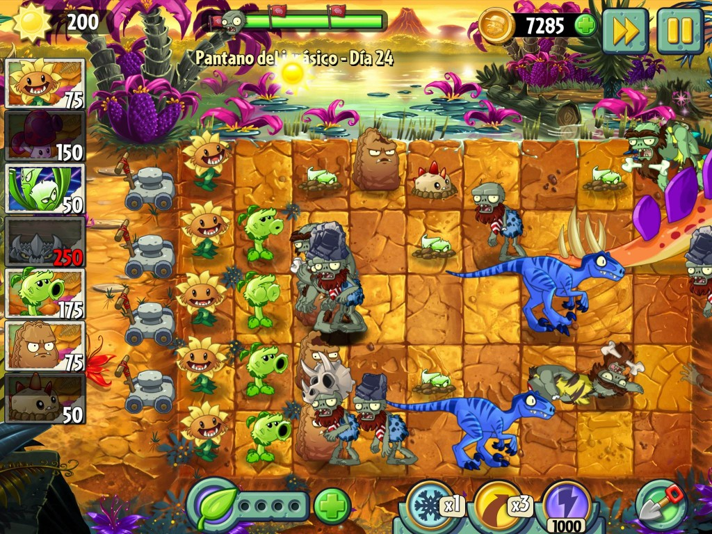 Pantano del Jurásico Plants vs Zombies