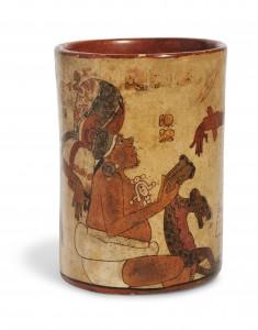 Cubilete de cerámica, año 600-800 DC. Museo Nacional de Arqueología y Etnología, Guatemala