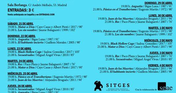 . La Fundación SGAE ha organizado el ciclo Festival de Sitges, que tendrá lugar del 21 de abril al 4 de mayo en la Sala Berlanga de Madrid. La muestra […]